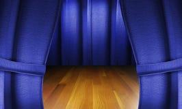 этап пола деревянный Стоковое Изображение RF