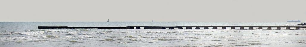 Этап посадки на побережье Адриатического моря Стоковая Фотография RF