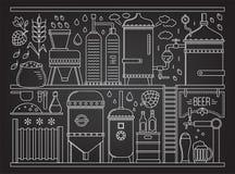 Этап продукции пива бесплатная иллюстрация