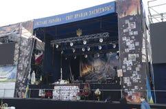 Этап революции в Киеве, Украине Стоковая Фотография RF