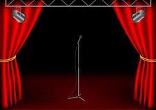 Этап с изолированным микрофоном Бесплатная Иллюстрация