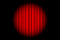 Этап с красным занавесом и большое пятно освещают Стоковые Фото