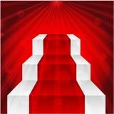 Этап с красным ковром Иллюстрация вектора
