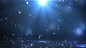 Этап с освещением пятна, пустая сцена для выставки, церемония вручения премии или реклама на синей предпосылке Закрепленное петле иллюстрация вектора