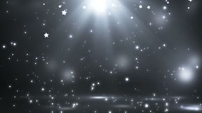 Этап с освещением пятна, пустая сцена для шоу, церемония вручения премии или реклама на темном - серая предпосылка Закрепленное п бесплатная иллюстрация