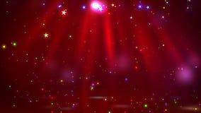 Этап с освещением пятна, пустая сцена для шоу, церемония вручения премии или реклама на красочной предпосылке Закрепленное петлей иллюстрация вектора