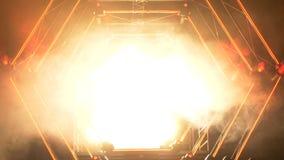 Этап с светами дыма и пятна представление принципиальной схемы предпосылки 3d изолированное иллюстрацией представило белизну Совр стоковые фото