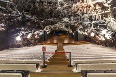Этап театра в Jameos del Agua, Лансароте Стоковое Изображение