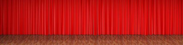 Этап театра с красными занавесами иллюстрация штока