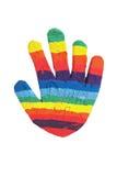 Рука глины Стоковые Фотографии RF