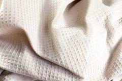 Эта предпосылка ткани waffle Стоковые Изображения RF