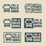 Этикета водителя автобуса Стоковые Фотографии RF