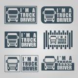 Этикета водителя грузовика Стоковое Изображение RF