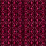 Этническая абстрактная розовая и черная безшовная картина для ткани, керамических плиток или предпосылок бесплатная иллюстрация