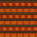 Этническая африканская безшовная картина Стоковое фото RF