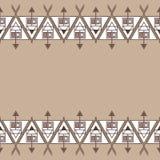 Этническая безшовная геометрическая картина Пустой космос для вашего текста Стоковые Фотографии RF