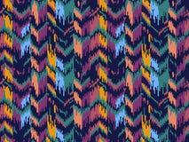 Этническая безшовная картина Племенная этническая текстура вектора Striped картина в ацтекском стиле Орнамент фольклора Ikat геом стоковые изображения rf