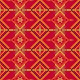 Этническая безшовная картина с геометрическим орнаментом Ацтек, навахо, юго-запад американский, индийский, печать Boho иллюстрация штока