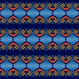 Этническая геометрическая безшовная картина стоковое изображение