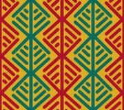 Этническая геометрическая безшовная картина Стоковые Изображения RF