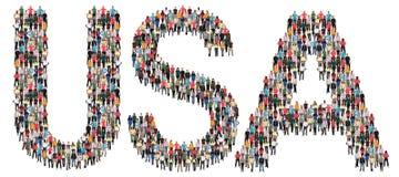 Этническая группа США США Соединенных Штатов multi людей Стоковые Фотографии RF