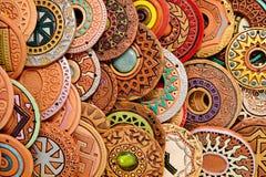 Этническая глина отбортовывая ювелирные изделия Стоковое Фото