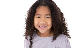 Этническая девушка на белой предпосылке Стоковое Изображение RF