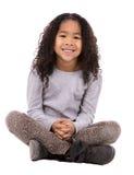 Этническая девушка на белой предпосылке Стоковое фото RF