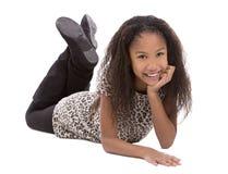 Этническая девушка на белой предпосылке Стоковая Фотография RF