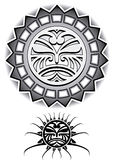Этническая иллюстрация вектора Солнця племенная Стоковое фото RF