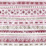 этническая картина безшовная Геометрические элементы на белом backgroun Стоковая Фотография RF