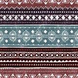 этническая картина безшовная Красочный геометрический орнамент вектора Стоковые Изображения RF