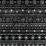 этническая картина безшовная Племенные и ацтекские мотивы Текстура Grunge Стоковые Изображения RF