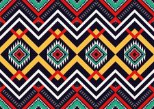 этническая картина Геометрический дизайн картины для предпосылки или обоев Стоковые Изображения