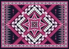 этническая картина Геометрический дизайн картины для предпосылки или обоев Стоковые Изображения RF
