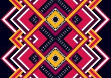 этническая картина Геометрический дизайн картины для предпосылки или обоев Стоковые Фото