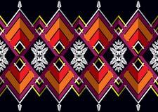 этническая картина Геометрический дизайн картины для предпосылки или обоев Стоковое фото RF
