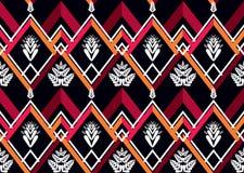 этническая картина Геометрический дизайн картины для предпосылки или обоев Стоковое Изображение