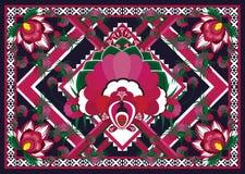 этническая картина Геометрический дизайн картины для предпосылки или обоев Стоковая Фотография