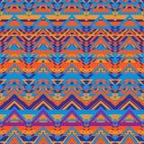 Этническая картина зигзага, предпосылка ацтекского стиля безшовная иллюстрация штока