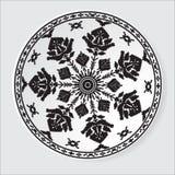 Этническая картина орнамента также вектор иллюстрации притяжки corel Стоковые Фотографии RF
