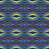 Этническая картина, с толщиными линиями и приглаживает волны Стоковые Изображения RF