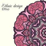 Этническая карточка дизайна Иллюстрация штока