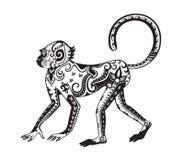 Этническая орнаментированная обезьяна стоковые фотографии rf