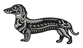 Этническая орнаментированная собака Стоковые Изображения