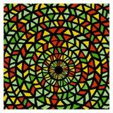 Этническая традиционная красочная яркая круглая картина иллюстрация вектора