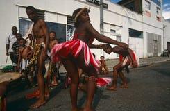 Этническая триба выполняя в Иоганнесбурге Стоковая Фотография