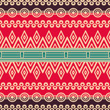 Этническая флористическая безшовная картина Стоковое фото RF