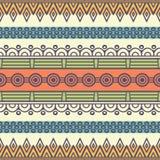 Этническая флористическая безшовная картина Стоковое Изображение RF