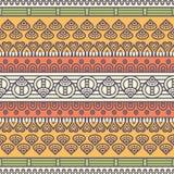 Этническая флористическая безшовная картина Стоковое Изображение